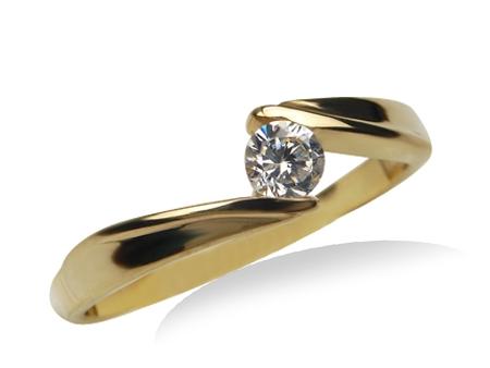 Pierścionek Zaręczynowy 24h Brylant 016ct Goldrun 7555224366