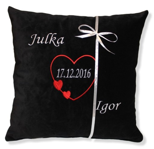 Poduszka Prezent Dla Chlopaka Napis Na Walentynki 7817324725 Allegro Pl