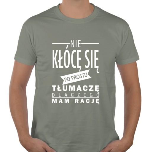 6b319bc9689b66 NIE KŁÓCĘ SIĘ zabawna koszulka shirt z napisami XL 7260153599 ...