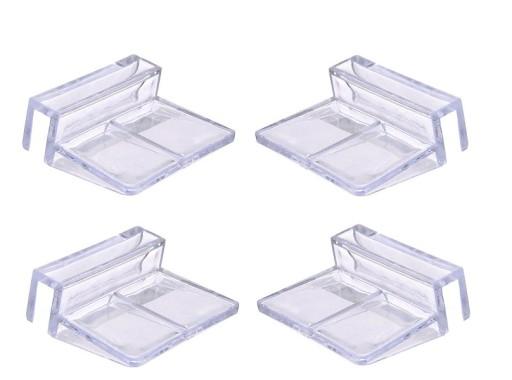 Uchwyty na szybę 6mm, 4szt akrylowe e-