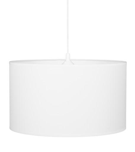 Lampa wisząca duża BIAŁA okrągła biały abażur