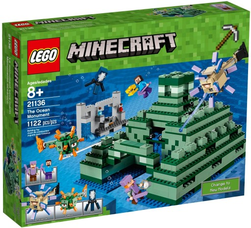 Lego Minecraft 21136 Oceaniczna Piramida Klocki 7321398599 Allegro Pl