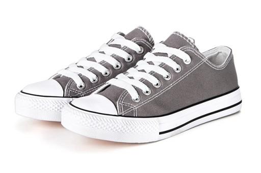 Buty sportowe TRAMPKI damskie tenisówki Szare 46