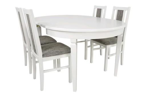Zestaw Okrągły Stół Rozkładany Do 210 I 4 Krzesła