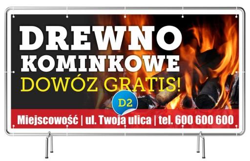 Baner Reklama Skład Opału Drewno Kominkowe Szyld 7242063868