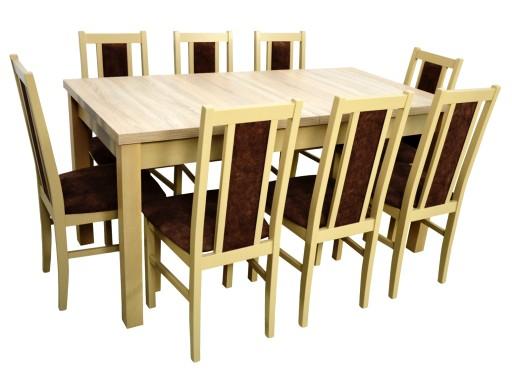 Duży Drewniany Stół I 8 Krzeseł Do Salonu Jadalni 7371990633