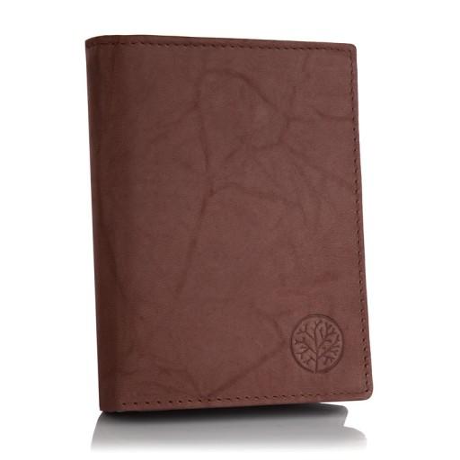 Skórzany portfel męski BETLEWSKI RFID pionowy