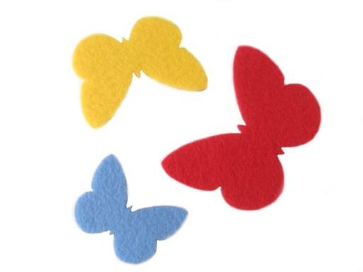 Dekoracje Motyle Motylki Ozdoba 4 Mm Filc 3szt