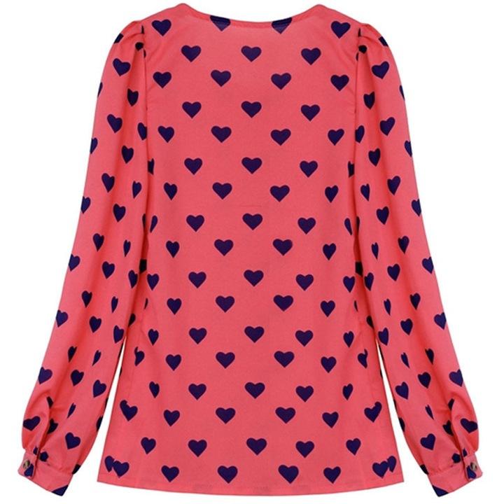 Feminine heart blouse, original stylish NEW L 40 9664445685 Odzież Damska Topy ET DIEUET-4