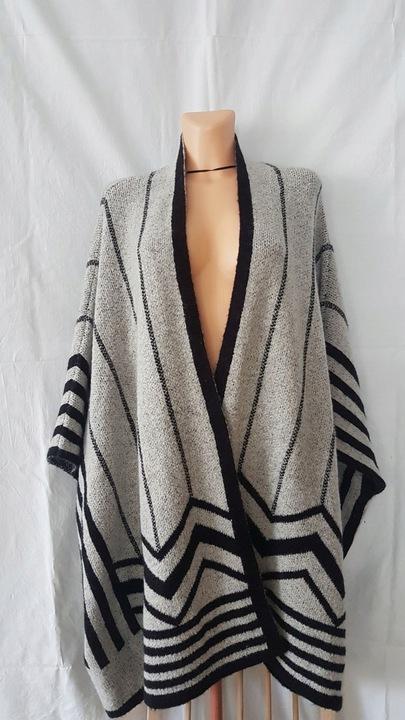 ZARA KNIT sweter ponczo poncho SZARY M 8644558674 Odzież Damska Swetry HD RMIPHD-4