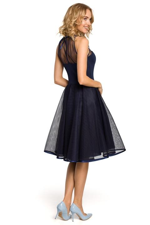 MOE WIECZOROWA SUKIENKA STUDNIÓWKA 42 XL 7231198777 Odzież Damska Sukienki wieczorowe YG FRTUYG-3